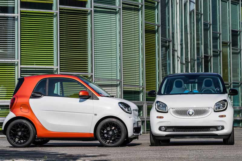 nuova smart fortwo forfour 2018