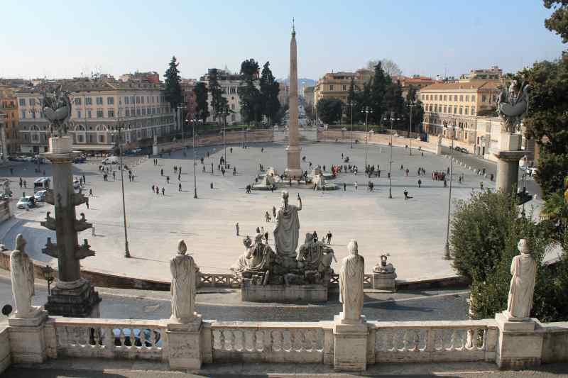visitare piazza del popolo a roma