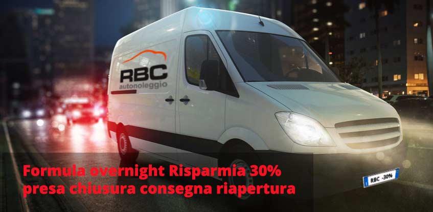 offerta furgoni overnight sconto noleggio notturno