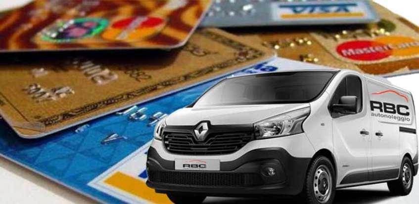 offerta noleggio furgoni titolari carta di credito